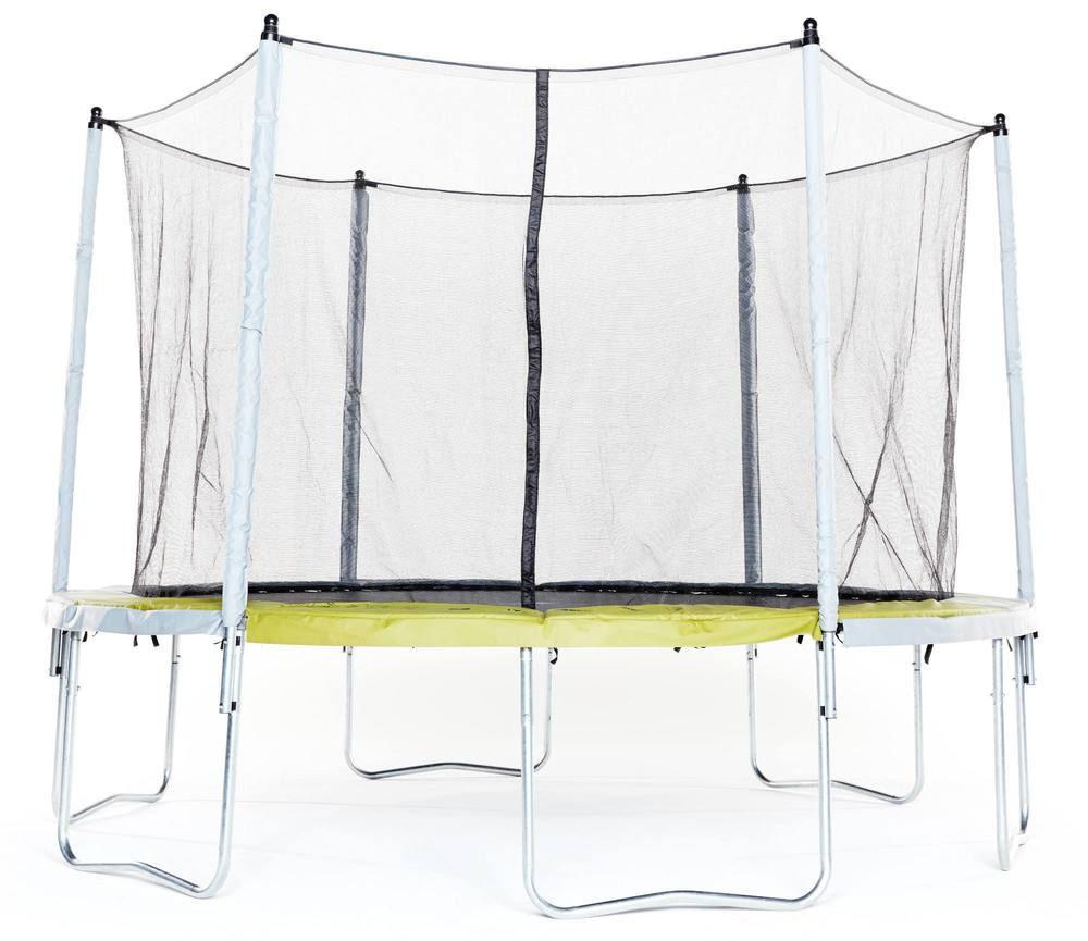 Decathlon trampoline Essential 365 groen met veiligheidsnet